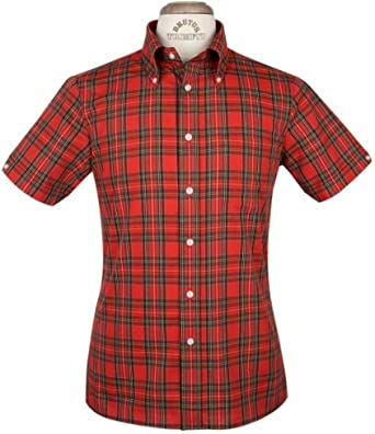 Camisa de cuadros escoceses rojos de Brutus, clásica, tallas M-XXL ...
