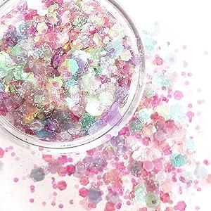 Chunky Glitter Makeup ✮ Starlightshine Mermaid Song 6g ✮ Festival Iridescent Glitter Cosmetic Beauty Makeup Face Body Glitter Hair Nails Rave Glitter