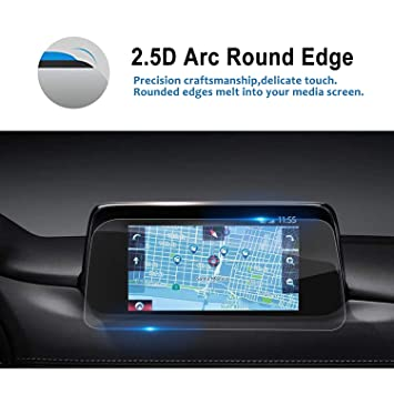 LFOTPP 2017 2018 Mazda CX-5 7 Inch MZD Connect Car Navigation Screen  Protector [9H] Tempered Glass Infotainment in-Dash Center Touch Screen  Protector