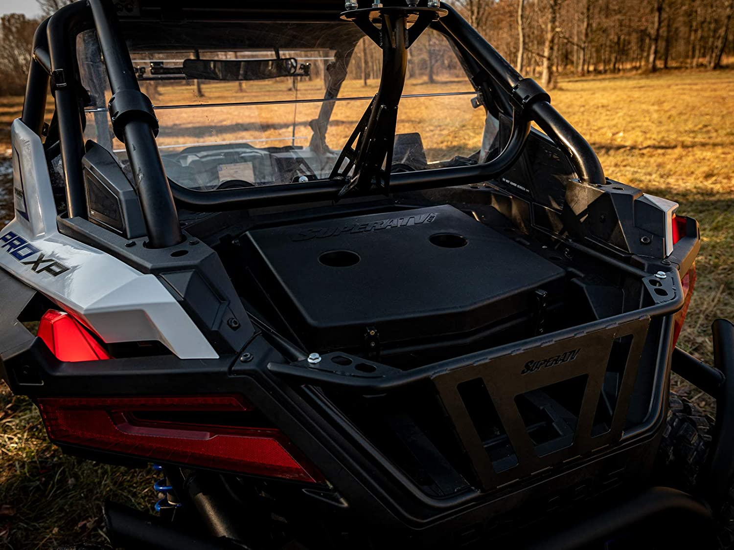SuperATV Heavy Duty Insulated Rear Cooler//Cargo Box for Polaris RZR PRO XP 2020+ Sealed Lid Keeps Ice In /& Mud Out!