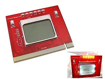 Kalea-Informatique - Tarjeta de diagnóstico PCI para placa madre (pantalla LCD, mando a distancia, interfaz PC PCI), uso profesional, versión 2012: ...
