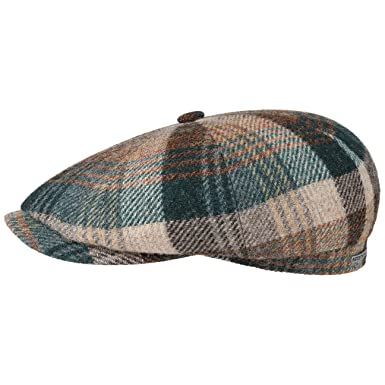 1fac21a3 Stetson Hatteras Woolrich Classic Flat Cap Men | Made in The EU at Amazon  Men's Clothing store: