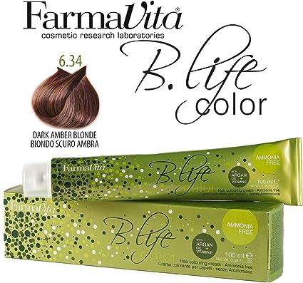 Farmavita Life Color Tinte Capilar sin Amoniaco 6.34-100 ml ...