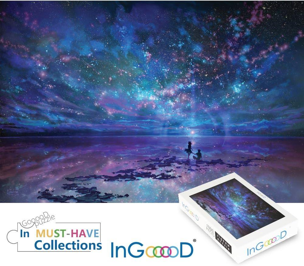 Ingooood Jigsaw Puzzles 1000 Pieces- Imagination Series Fantasy Romantic Star Sea