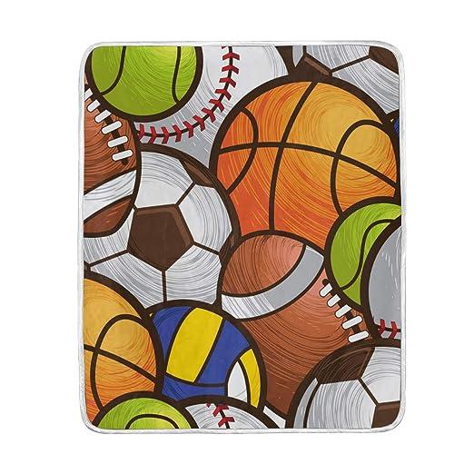 MyDaily - Manta de Baloncesto de béisbol y fútbol de Microfibra de ...