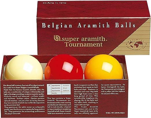 Aramith 61.5 mm Super Armith Tournament Carom/Carambole Billiard/Pool Balls, Juego Completo de 3 Bolas: Amazon.es: Deportes y aire libre