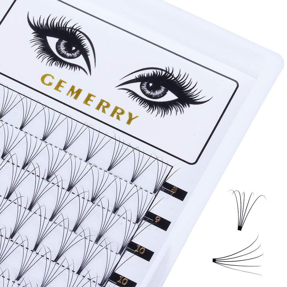 159fe2eabe5 Amazon.com : 0.07mm Volume Lash Extensions, C Curl 8-14mm Mix 5D Eyelash  Extensions Fans Silk Natural Premade Professional Individual Cluster Eyelash  ...