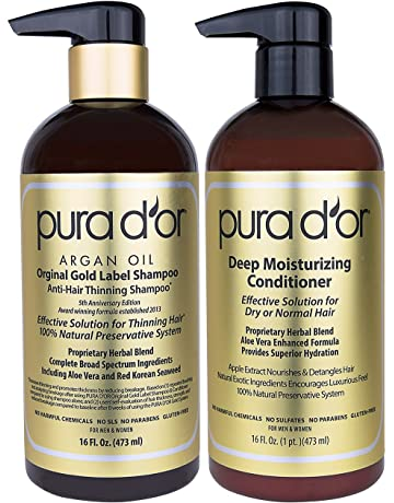 PURA DOR Original Gold Label Anti-Thinning Shampoo & Deep Moisturizing Conditioner Set