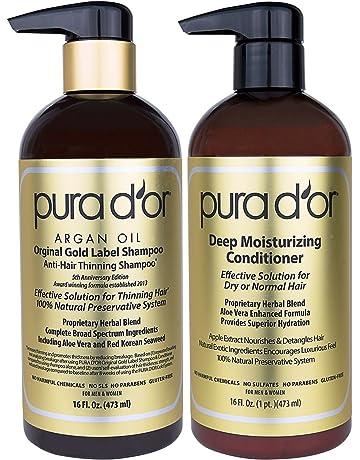 PURA DOR Original Gold Label Anti-Thinning Shampoo & Deep Moisturizing Conditioner Set