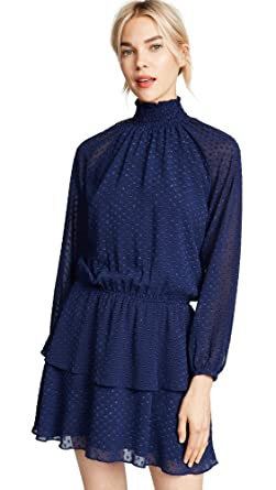 aa54f6378d09 Yumi Kim Women's Class Act Dress, Navy Swiss Dot, Blue, X-Small