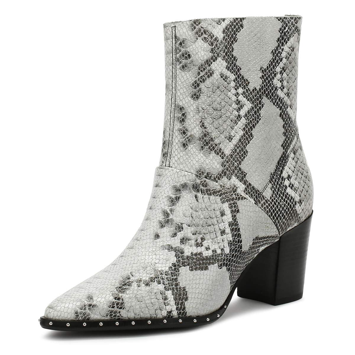 Bronx Americana Damen Schwarz Weiß Stiefel