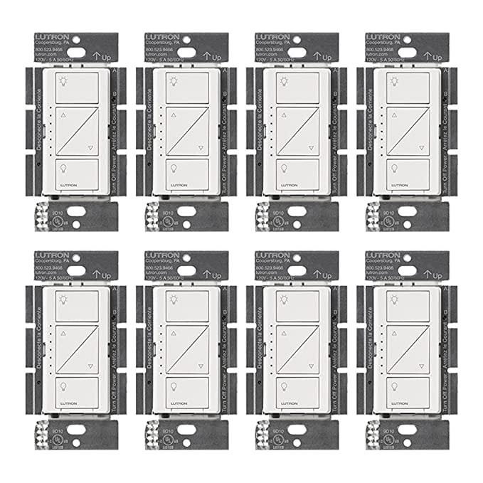 Lutron PD-10NXD-WH Caseta Pro In Wall Dimmer 250W LED (8 Pack) - - Amazon.com
