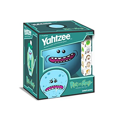 YAHTZEE Rick and Morty Meeseeks Edition | Shake, Score & Shout Yahtzee Dice Game | Officially Licensed Rick and Morty YAHTZEE Dice Game | Rick and Morty Merchandise: Toys & Games