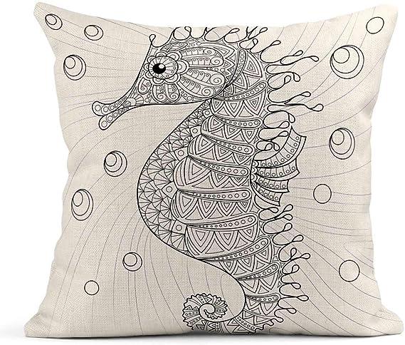 Kinhevao Cojín Colorido Animal Caballito de mar Adulto ...