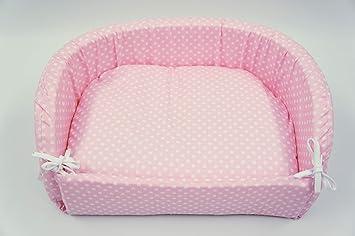 megawebstore Sofá Cama caseta para Perro cojín colchón para Perro, Mod. Lunares Rosa MIS. 44 X 34: Amazon.es: Productos para mascotas