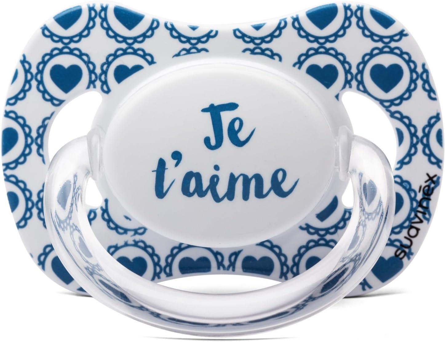 Suavinex - Chupete fisiológico de silicona «Je taime» (Te quiero) - Para 6-18 meses: Amazon.es: Bebé