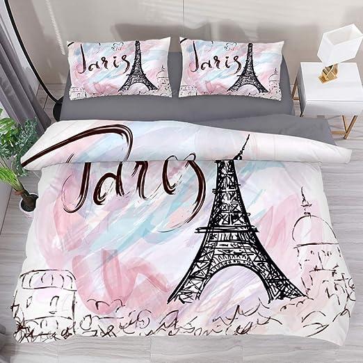 Amazon Com Lvshen Painted Eiffel Tower In Paris Bedding Sets