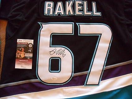 super popular 43b5f 4da1a Rickard Rakell Autographed Signed Anaheim Ducks Jersey ...