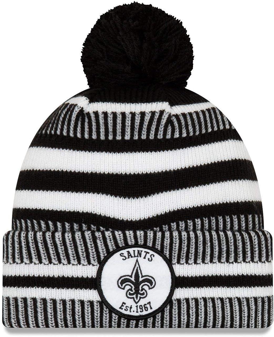 New Era New Orleans Saints Beanie Knit NFL 2019 Sideline Home 1967