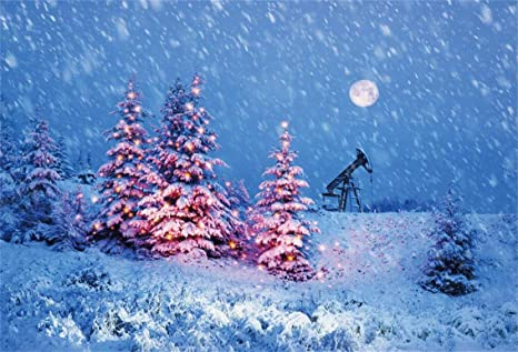 Snow On Christmas.Amazon Com Csfoto 8x6ft Background Snow Falling Night