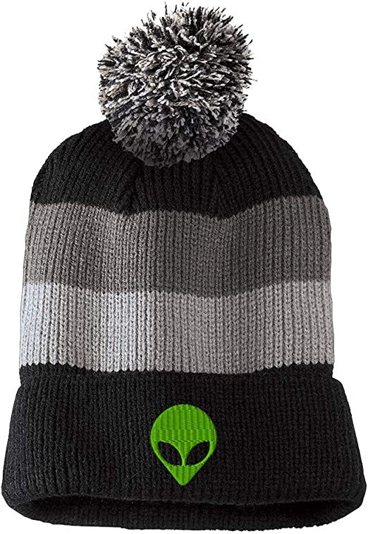 Blue Mountain Fox Knit Cap Knit Skull for Men Black