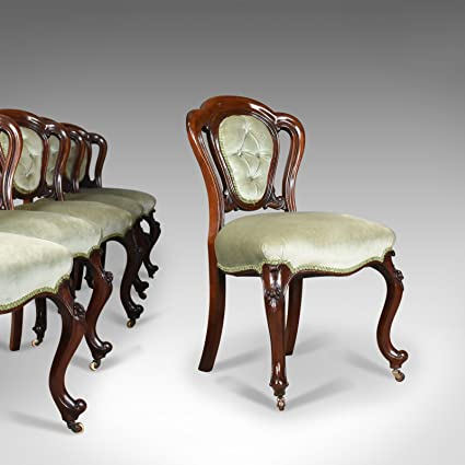 London Fine Di Antiquariato Antico Set Di Sei Sala Da Pranzo Sedie Inglese Regency Mogano Circa 1830 Amazon It Casa E Cucina