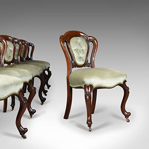 London Fine Antiques Antique, Juego de Seis, Comedor, sillas ...