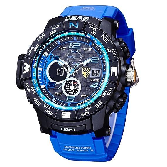 0da928b2ef9e HWCOO SBAO Relojes Reloj Deportivo de los Hombres Deep Diving Deeplight  Nightlight Reloj electrónico multifunción (