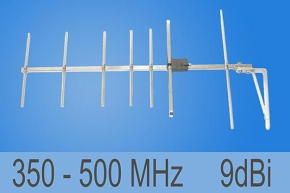 Antena 350 – 500 MHz 70 cm banda antena direccional 9dBi ...