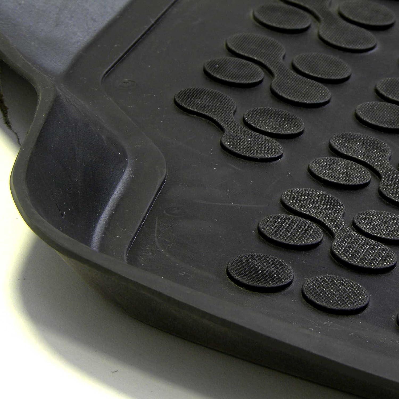 MTM Alfombrillas Goma Yaris II Desde 10.2005-2011 3D 5746 c/ód Tipo Cubeta a Medida Antideslizante con Borde 5 cm