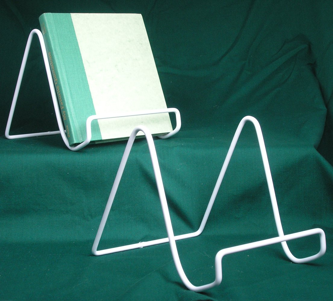 Amazon.com: Wire Easel Plate Stands Display Holder - White Vinyl ...