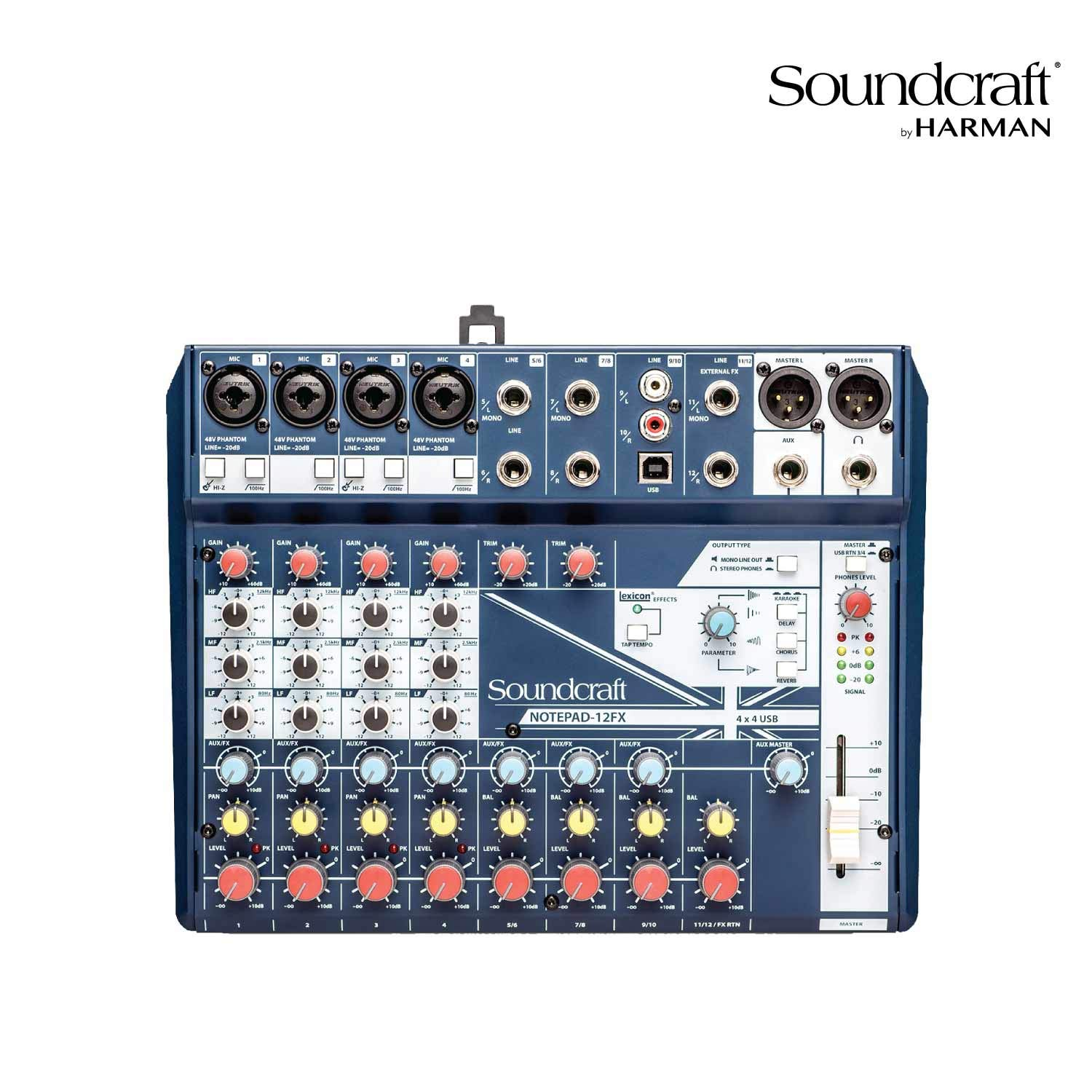 Soundcraft Notepad-12FX Small Format Analog Mixing Console