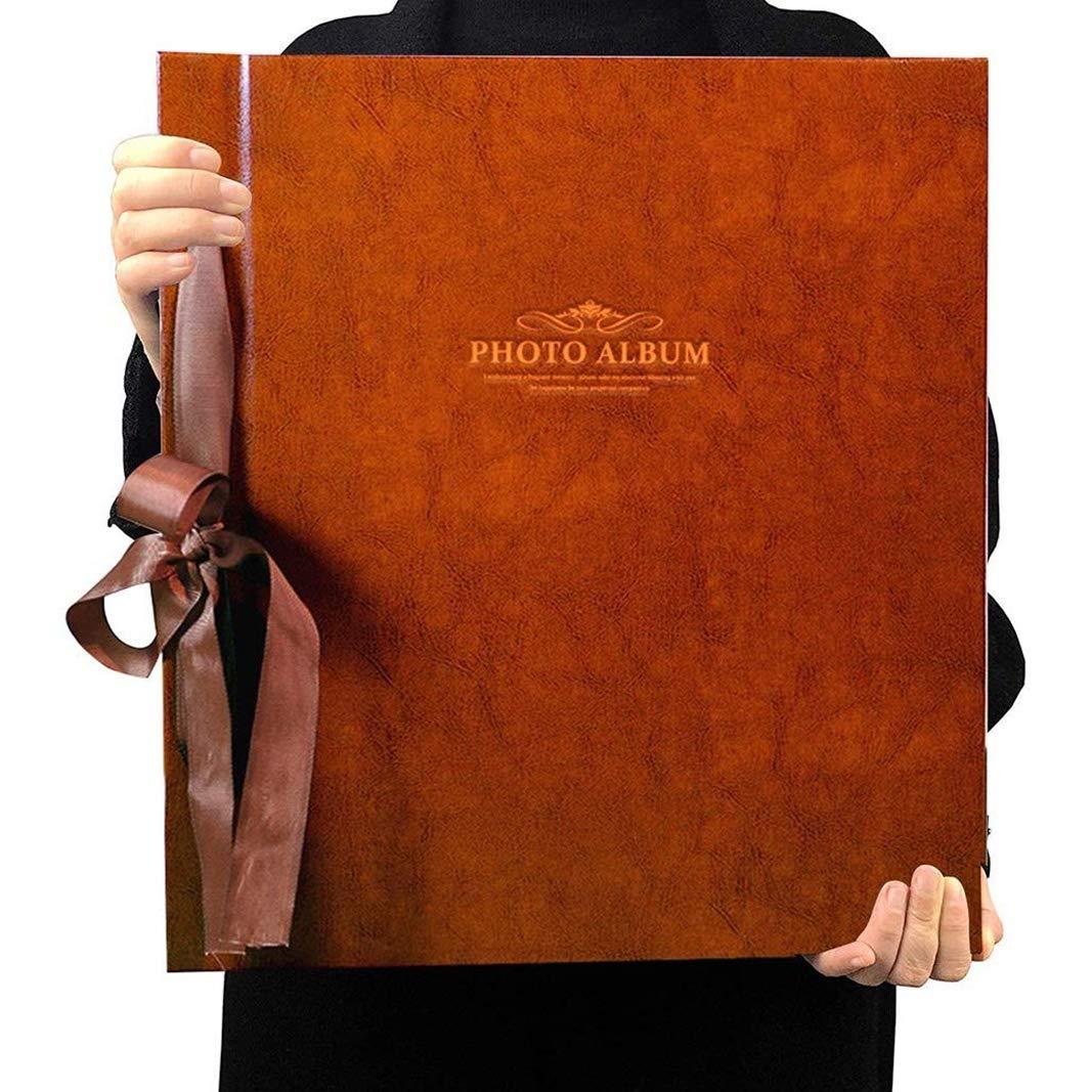 Trjyr Photo Albums - 1000 Sheets 6X4(4R) Interstitial PU Retro Photo Album, Large-Capacity Home Wedding Baby Grow Memorial Book (Color : Light Brown) by Trjyr Photo Albums