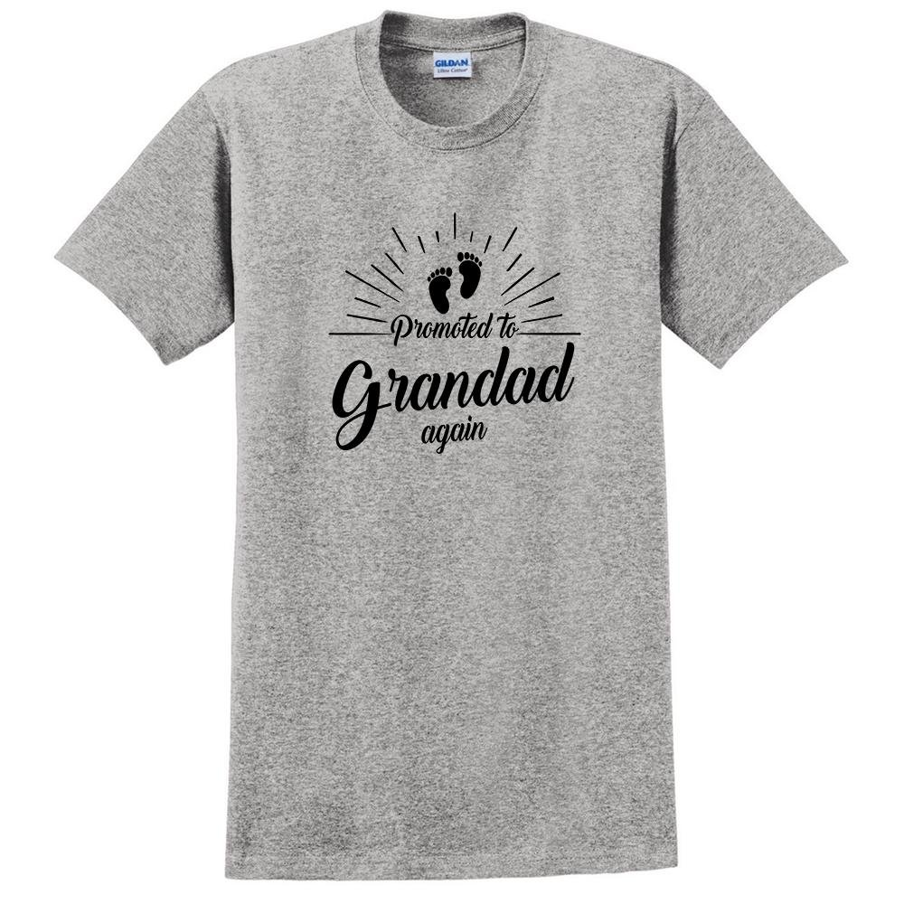 Promoted to Grandad Again Pregnancy Announcement Baby Shower Grandpa t Shirt