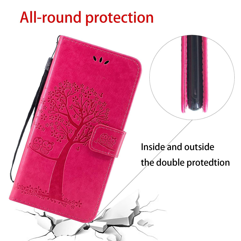 Herbests Kompatibel mit Samsung Galaxy A40 Handy H/ülle Leder Flip Case Cover Vintage Eule Blumen Klapph/ülle Handytasche Leder Tasche Wallet Schutzh/ülle Magnetverschluss St/änder,Gr/ün