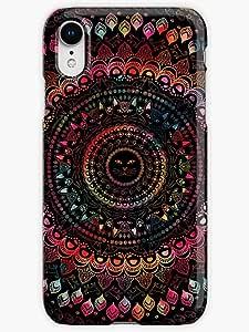 Rainbow Kitty Cat Mandala Phone Case for iPhone XR