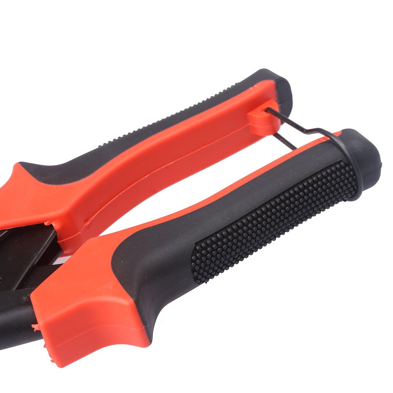 LEADSTAR Pinza Fustellatrice Rosso Pinza Perforatrice Pinza a Fustella per Cuoio Cinture Carta Cinghie da Guardare