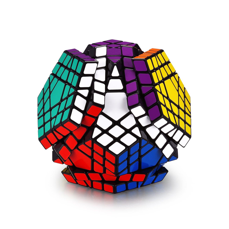 SANDTECH 5x5 Megaminx Black Megaminx Speed Cube 5x5 Kilominx Gigaminx Cube Puzzle Games Twist Fidget Toys for Kids