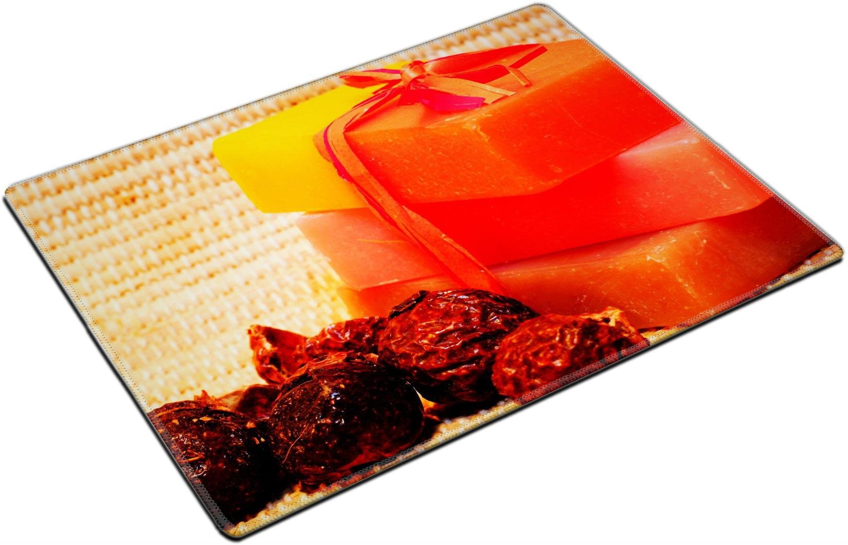 MSD Place Mat Non-Slip Natural Rubber Desk Pads design 12031116 Handmade Soap and soap nuts on the bamboo Square Coaster Spa products
