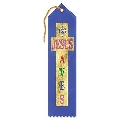 Beistle Jesus Saves Ribbon: Toys & Games