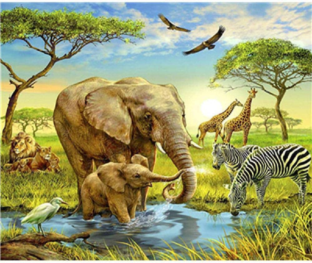 Adult Wooden Puzzle 1500 Pieces Steppe Animal Elephant Zebra Giraffe Lion Unisex Games Jigsaw Puzzles Amazon Canada