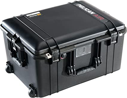 CVPKG Presents - Black Pelican 1607 With Foam Air case. Comes with wheels.