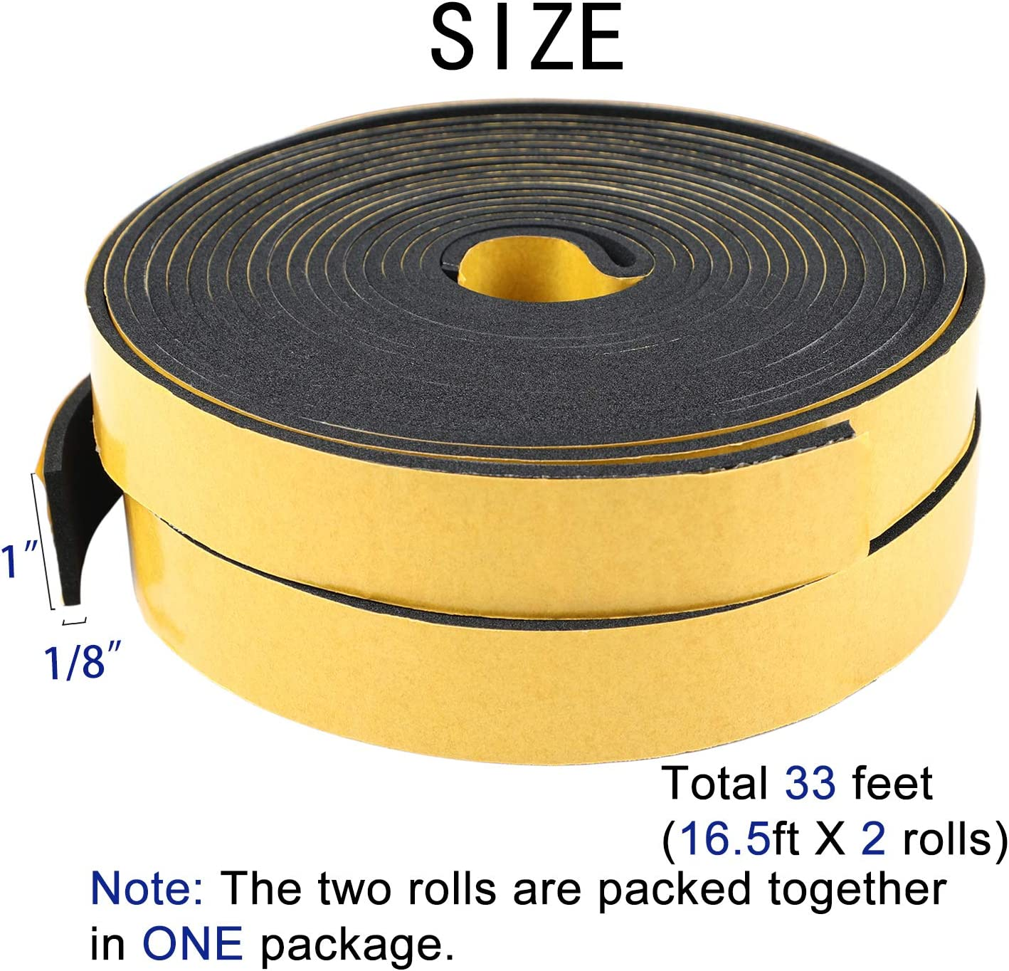 USA Sealing Inc.-Fire Retardant Neoprene Foam with Adhesive-1//8T x 3//8W x 10 ft.