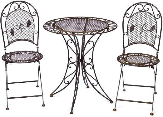 Tavoli Da Giardino Antichi.Tavolo Da Giardino 2x Sedia Di Ferro In Stile Mobili Antichi