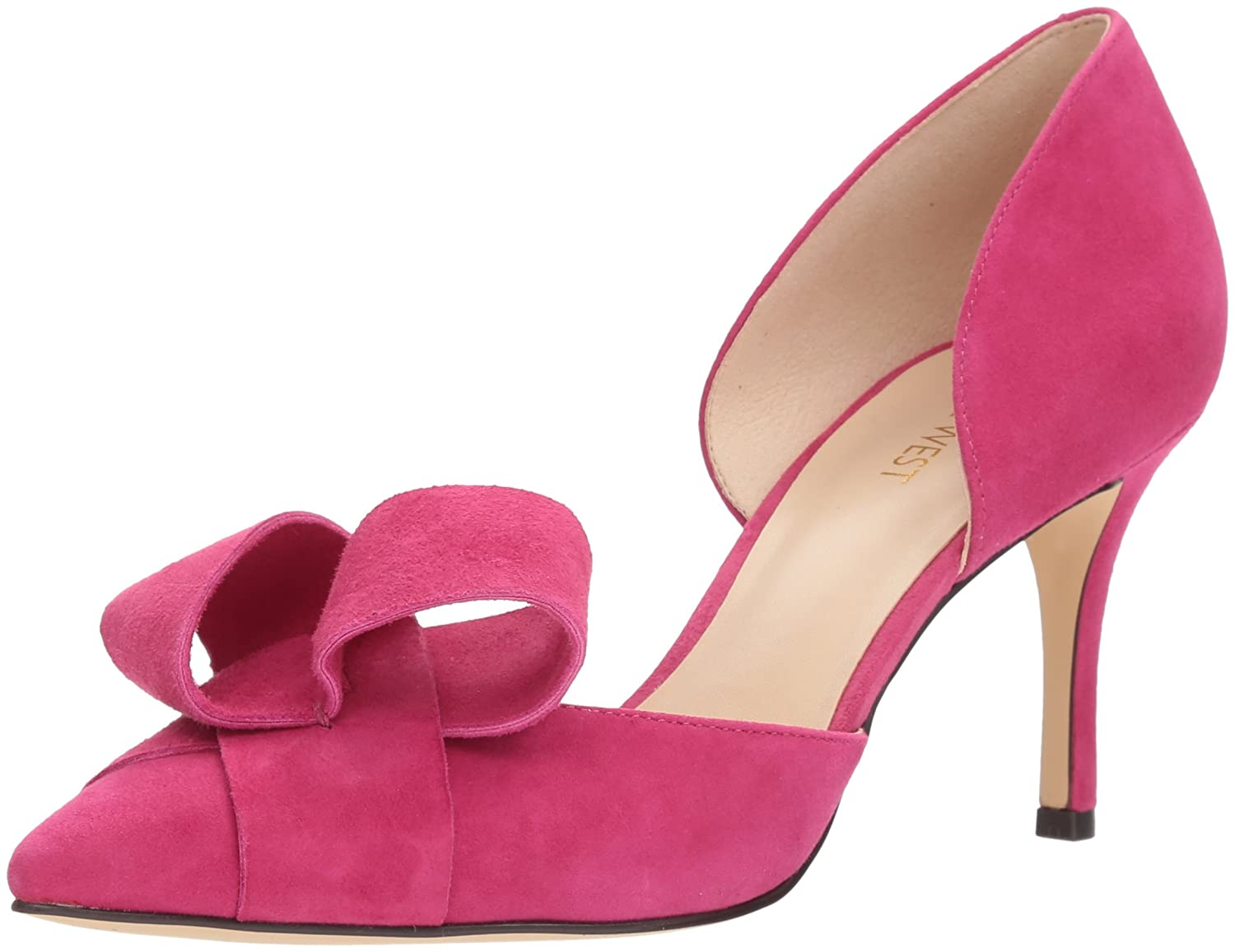 Nine West Women's Mcfally Suede Pump B071FTPB8G 8 B(M) US|Pink Suede