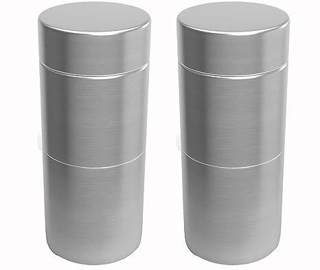 Amazon.com: Tarro para hierbas | 2 contenedores de aluminio ...