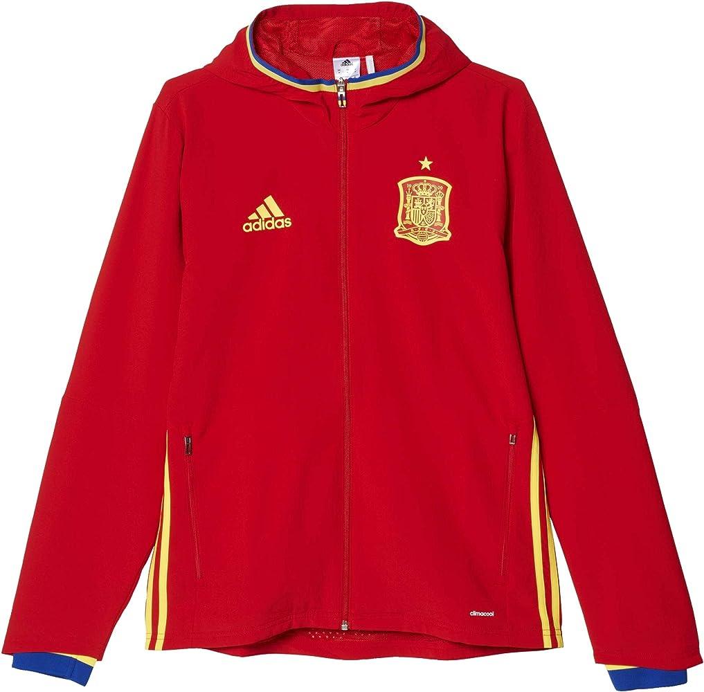 adidas Fef Pre Suit Traje de Chándal Selección de España 2016, Hombre, Rojo/Amarillo/Azul, XS: Amazon.es: Ropa y accesorios