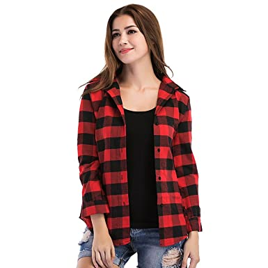 7bf98d4e320 Cozami Casual Checkered Full Sleeves Shirts for Women
