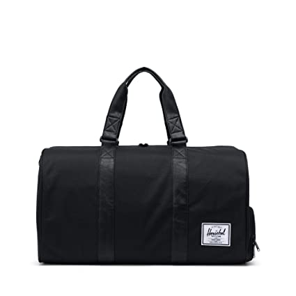 b279aac72 Herschel Supply Company Novel Travel Duffle, 51-inch, 42.5 Liters,  Black/Black PU: Amazon.co.uk: Luggage
