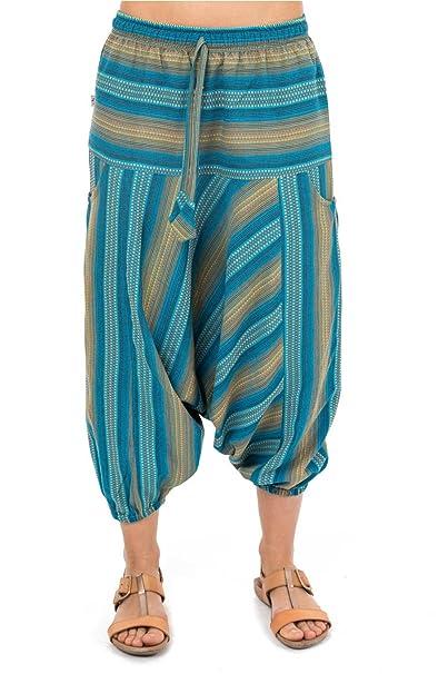 a9872b8fb8ee8 Fantazia - Pantalón Corto - Pierna Ancha - para Mujer Azul XXX-Large-(48-50)   Amazon.es  Ropa y accesorios